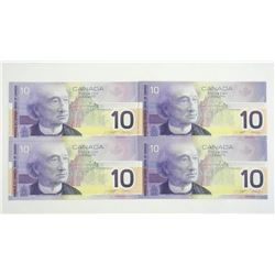 Lot (4) Bank of Canada 2001 10.00 Note BC63a Choic
