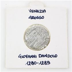 Estate Ancient Silver Coin 'Venezia' Grosso (1280-