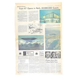 Ottawa Journal March 28, 1967 Expo 67 Headlines