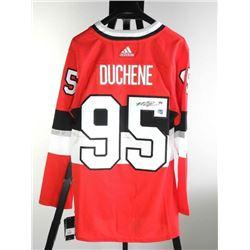 Matt Duchene (SEN) Pro Red Jersey - Signed NHL 100