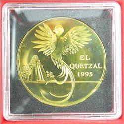Guatemala Pattern Coin 1995 Brass 10 Quetzales