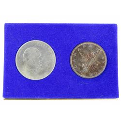 Royal Trust - 1966 Silver Dollar and Churchill Med