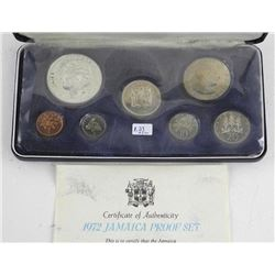 1972 Jamaica Proof Coin Set 1.23 ASW.