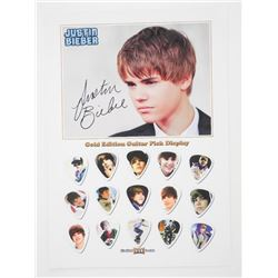 Justin Bieber Gold Edition guitar Pick Display Pho