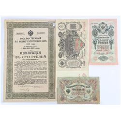 Grouping of Russia Colonial Paper, Notes - 1905 an