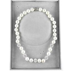 Strand Pearls, 12-14mm with Swarovski Elements Cho