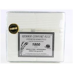 Bamboo Comfort 1800 KING Sheet Ensembles MSR: $199