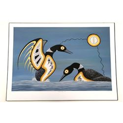 Barry Peters - 'Mating Display, Loons' Original Fo