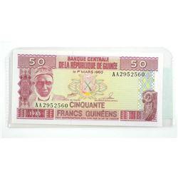 1960 'GUINEA' 50 Francs #12