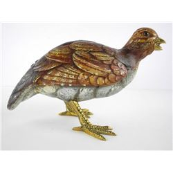 Malevolti Italy - Handmade Duck Sculpture Signed.