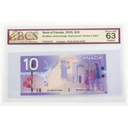 Bank of Canada 2005 - 10.00 BC-68aA (BTG) Replacem