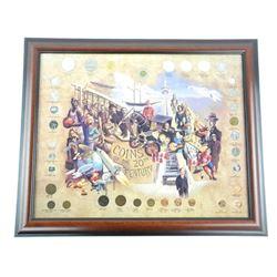 """Nostalgia Canada Coins Collector Frame 20x22"""" - W"""