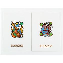 Set (2) Norval Morrisseau (1931-2007) Cameo Collec