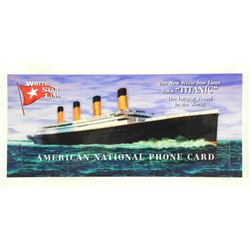 Titanic American National Phone Card Die Cast Phon