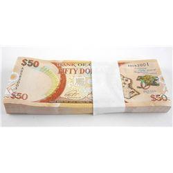 Estate - Bundle/Brick 1966-2016 GUYANA $50.00 x 10