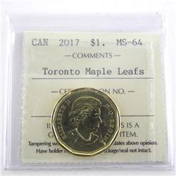 1917-2017 TML One Dollar Coin MS-64. ICCS