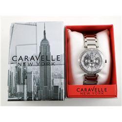 Caravelle NY Ladies Fancy Watch with Swarovski Ele
