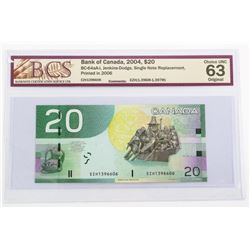 Bank of Canada 2004 - 20.00 BC-64aA-i (EZH) Replac
