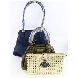 Group of (3) 'Carlo G' Designer Handbags