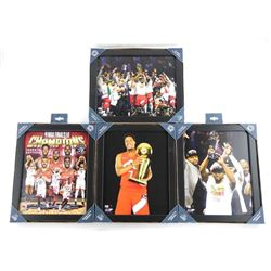 Group of (4) 8x10 Raptors Champion Photos Framed