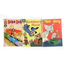 Lot (3) Vintage Comics - Tom and Jerry, Richie Ric