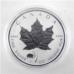 2017 .9999 Fine Silver $5.00 Coin 'Maple Leaf - Pa