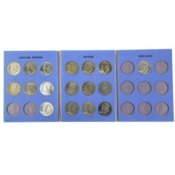 USA Silver and Nickel Dollar Collection - Book