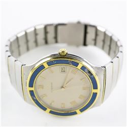 Estate BULOVA Watch Blue and White Dial