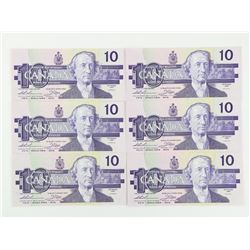 Lot (4) 1989 Bank of Canada 10.00 (ADX)