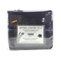 KING Bamboo Comfort 1800 Series Sheet Ensemble