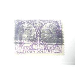 Estate Canada Jubilee 4.00 Stamp # 64. (VF) CAT $1