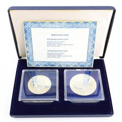 Balboa Proof Coin Set 1979 - 5 and 10 Balboa 925 S