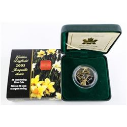 RCM 50 Cent Sterling Silver Coin - Daffodil