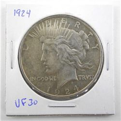 1924 USA Silver Dollar VF30