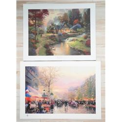 Lot (2) Thomas Kinkade Fine Art Litho's 'Paris Cit