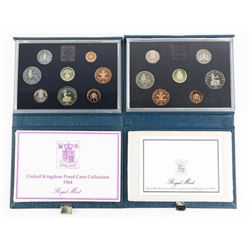 Lot (2) Royal Mint 1984 and 1988 Proof Sets - Leat