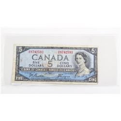 Bank of Canada 1954 5.00 Devil's Face B/C