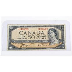 Bank of Canada 1954 50.00 Devil's Face C/T