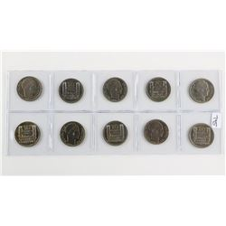 Group of (10) Coins France 1946 - 10 Francs MS60
