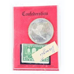 Confederation 1867-1967 Silver Dollar and 2 Cent S