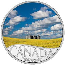 2017 $10 Fine Silver Coin - Celebrating Canada's 150th: Canola Field.