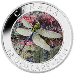 2014 $10 Fine Silver Coin - Green Darner.