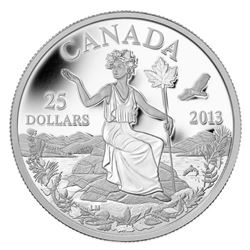 2013 $25 Canada: An Allegory - Pure Silver Coin. Issue Price: $89.95.