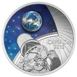 $20 Fine Silver Coin - The Universe: Glow in the Dark Glass with Opal.