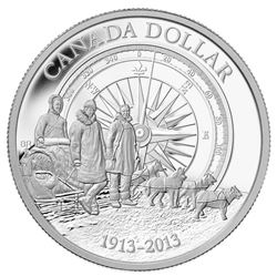 2013 Proof Silver Dollar.