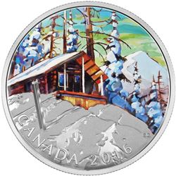 2016 $20 Canadian Landscapes: Ski Chalet - Pure Silver Coin