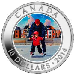 $10 Fine Silver Coin - Skating in Canada.