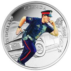 2016 $15 Fine Silver Coin - National Heroes - Police. Sold Out at the Royal Canadian Mint.