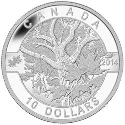 $10 Fine Silver Coin - O Canada - Down by the Old Maple Tree.