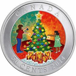 2014 50c Cupronickel Coin - Christmas Tree.